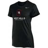 West Hills Christian 12: Nike Women's Legend Short-Sleeve Training Top - Black