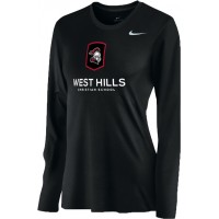 West Hills Christian 15: Nike Women's Legend Long-Sleeve Training Top - Black