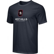 West Hills Christian 16: Adult-Size - Nike Combed Cotton Core Crew T-Shirt - Black