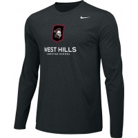 West Hills Christian 13: Adult-Size - Nike Team Legend Long-Sleeve Crew T-Shirt - Black