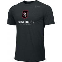 West Hills Christian 10: Adult-Size - Nike Team Legend Short-Sleeve Crew T-Shirt - Black