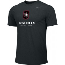 West Hills Christian 11: Youth-Size - Nike Team Legend Short-Sleeve Crew T-Shirt - Black