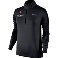West Hills Christian 23: Nike Element Women's Long Sleeve Running Half-Zip Top - Black