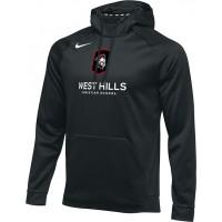 West Hills Christian 20: Nike Therma Men's Training Hoodie - Black